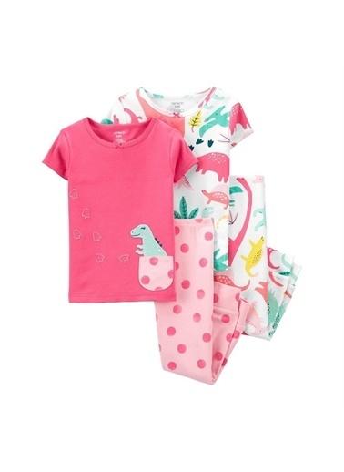 Carters Carter'S Dinazor 4'Lü Bebek Pijama Takımı 1K553210 Pembe